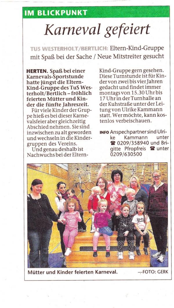 Hertener Allgemeine, Februar 2013